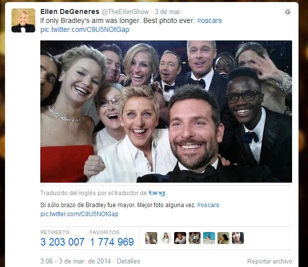 selfi ellen tuit