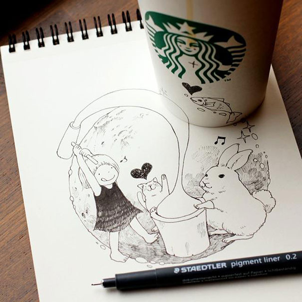 starbucks-cups-3d-drawings-tomoko-shintani-5